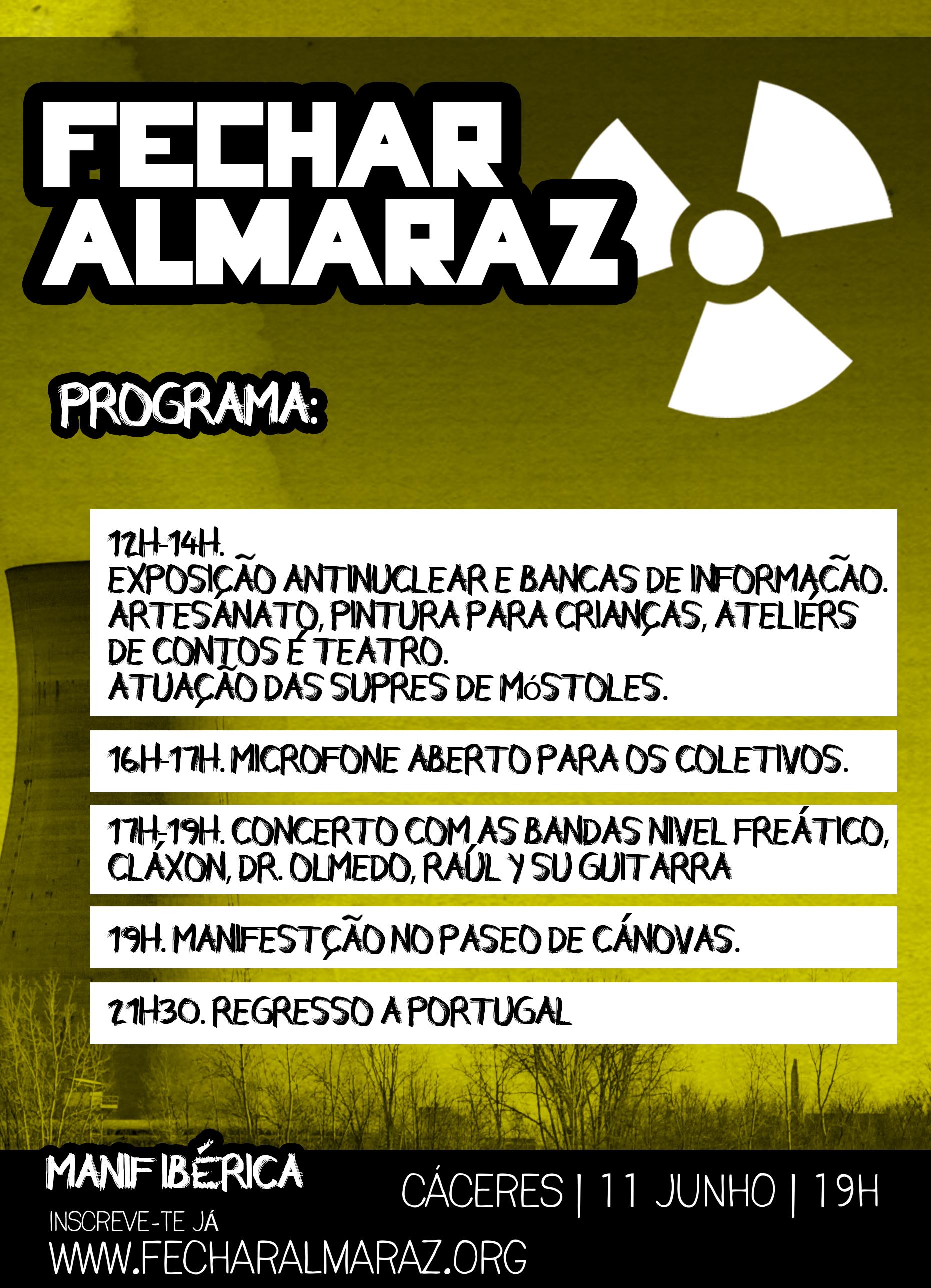 Almaraz Manif Ibérica Programa Cartaz (1)